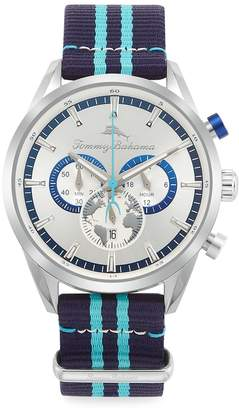 Tommy Bahama South Bay Stainless Steel & Nylon-Strap Chronograph Watch