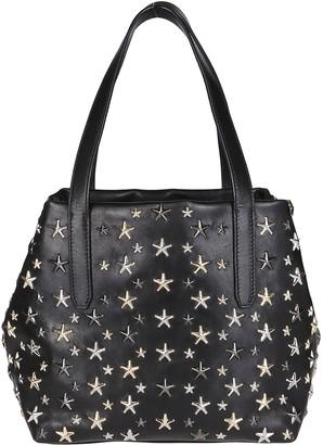 Jimmy Choo Black Leather Sofia Tote Bag
