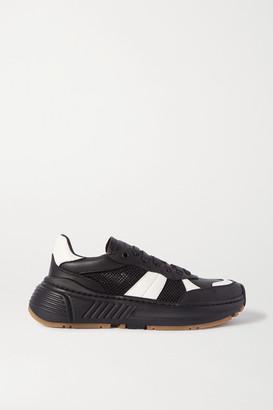 Bottega Veneta Speedster Leather And Mesh Sneakers - Black