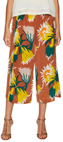 Tracy Reese Printed Silk Smocked Culottes