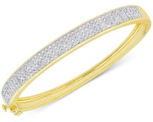 Victoria Townsend Diamond Pave Hinged Bangle Bracelet (1 ct. t.w.) in Sterling Silver or 18k Yellow or Rose Gold over Sterling Silver
