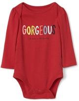 Gap Bright family graphic bodysuit