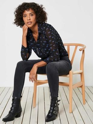 Mint Velvet Joliet Distressed Jeans - Black