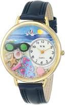 Whimsical Watches Women's G-1210015 Flip-flops Dark Leather Watch