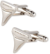 Givenchy Shark Tooth Cuff Links, Silver