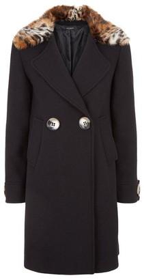 James Lakeland Faux Fur Collar Coat