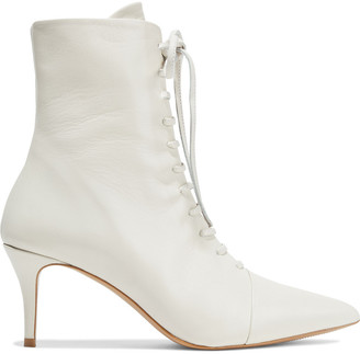 Iris & Ink Georgina Lace-up Leather Ankle Boots