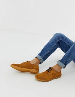 Selected suede brogues in tan