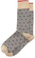 Neiman Marcus Micro-Star Millerighe Crew Socks