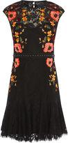 Karen Millen Embroidered Lace Peplum Dress