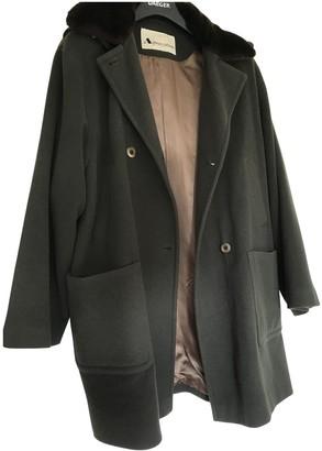 Aquascutum London Green Wool Coat for Women Vintage