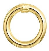 Tous 18K Yellow Gold-Plated Sterling Silver Small Hold Ring Pendant