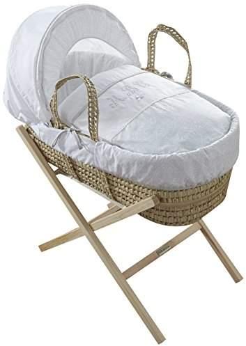 Clair De Lune Moses Basket, Palm, Secret Garden