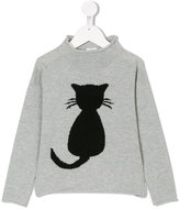 Il Gufo cat motif knitted jumper