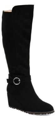 Journee Collection Veronica Wide Calf Wedge Boot