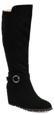 Journee Collection Veronica Wide Calf Wedge Boot