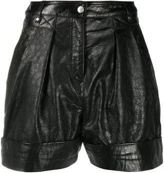 IRO Leather Straight Leg Shorts