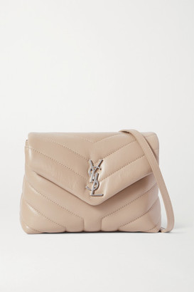 Saint Laurent Loulou Toy Quilted Leather Shoulder Bag - Beige
