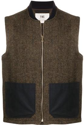 MACKINTOSH x TWC two-tone wool gilet