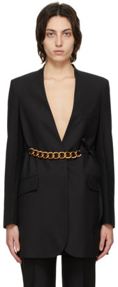 Givenchy Black Wool Chain Belt Jacket