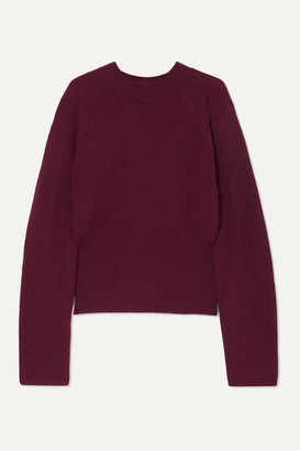 Nanushka Arden Ribbed-knit Sweater - Plum