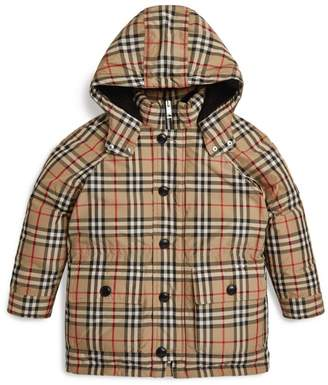 Burberry Kids Check Puffer Coat (3-12 Years)