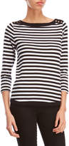 Rafaella Petite Striped Boatneck Top