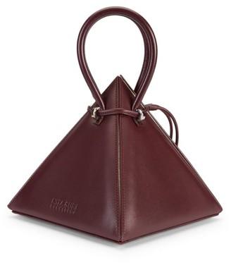 Nita Suri Lia Pyramid Leather Top Handle Bag
