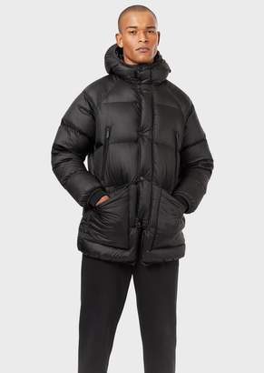 Emporio Armani Multi-Pocket Quilted Down Jacket With Hood