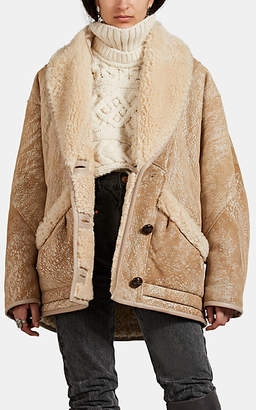 Isabel Marant Women's Audrina Shearling Coat - Cream
