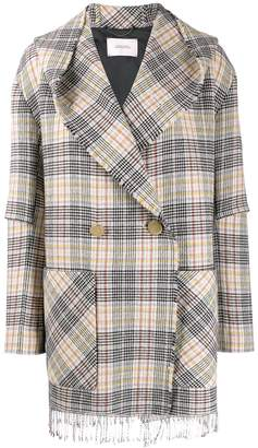 Schumacher Dorothee pastel check double-breasted jacket