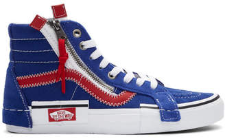 Vans Blue and Red Sk8-Hi Reissue Cap Sneakers