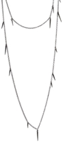 Marion Cage Small 18 Inch Point Scatter Necklace - Black Rhodium