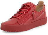 Giuseppe Zanotti Men's Patent Leather Low-Top Sneaker, Red