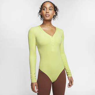Nike Women's Long-Sleeve Bodysuit Yoga Luxe