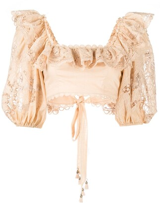 Zimmermann Lulu scallop frill blouse