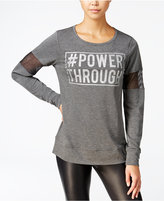 Material Girl Active Juniors' Mesh-Inset Graphic Sweatshirt, Only at Macy's