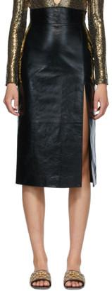 Gucci Black Lambskin Skirt