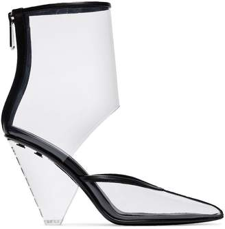Balmain transparent 95 ankle boots