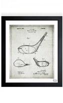 Oliver Gal 'Golf Club Blueprint' Framed Print
