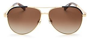 Kate Spade Women's Amarissa Aviator Sunglasses, 60mm