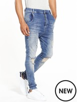 SikSilk Drop Crotch Skinny Jean