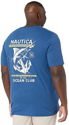 Nautica Big Tall Short Sleeve T-Shirt Crew Neck (Undercurrent) Men's Clothing
