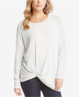 Karen Kane Long-Sleeve Twist-Hem Top