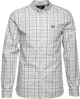 Lyle And Scott Vintage Mens Check Shirt Light Grey Marl