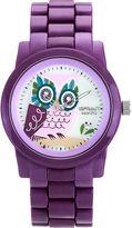 Sprout Eco-Friendly Womens Purple Owl Corn Resin Bracelet Watch