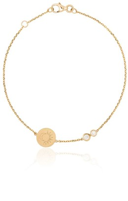 Kimai 18kt yellow gold Moon Sun diamond bracelet