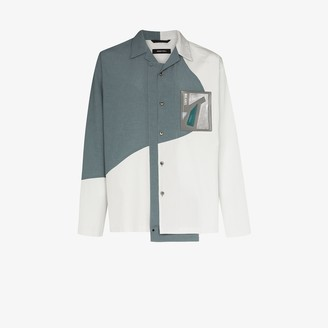 Nulabel Colour Block Cotton Shirt Jacket