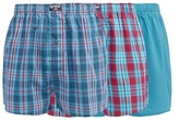 Mantaray Big And Tall Pack Of Three Turquoise Checked Boxers