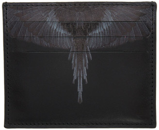Marcelo Burlon County of Milan Black and Grey Wings Card Holder